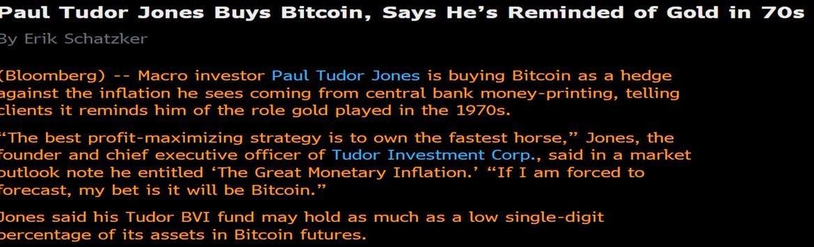 Paul Tudor Jones cumpara Bitcoin